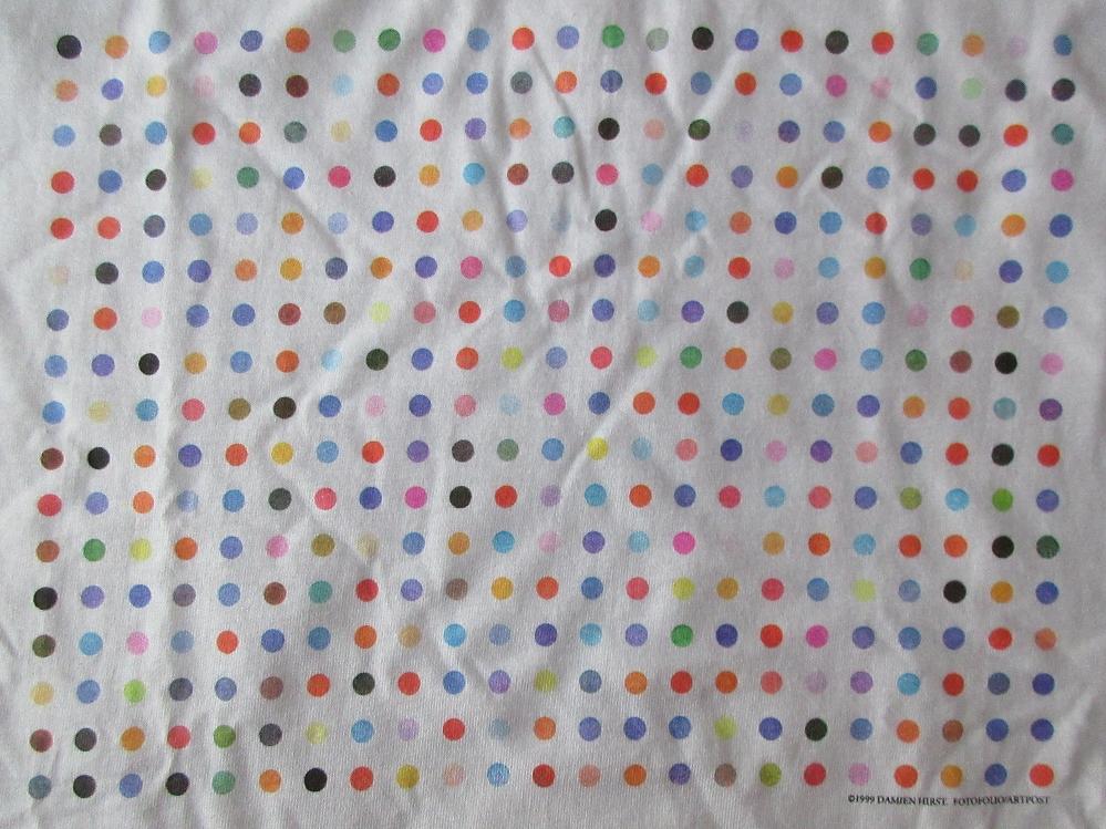90's ダミアン ハースト センセーション展 スポットペインティング Tシャツ M SENSATIONブルックリン美術館Damien Hirst芸術ART現代美術【deg】