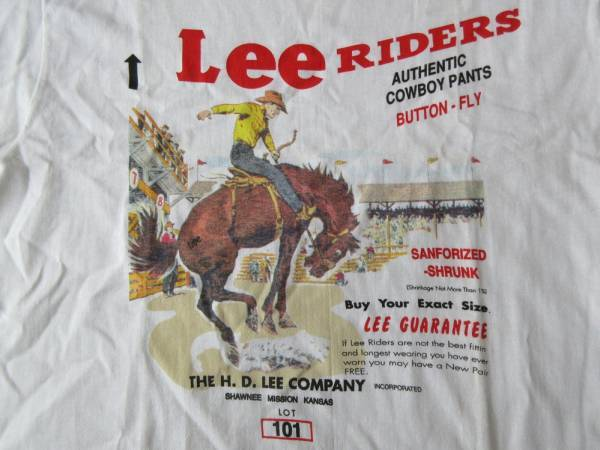90's USA製 Lee オールド Lee RIDERS フラッシャー Tシャツ M リー ライダース アメリカ製 ヴィンテージ ワーク WORK カウボーイ COWBOY【deg】
