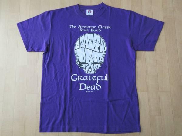 グレイトフルデッド スカル メッセージ 両面プリント Tシャツ L パープル Grateful Dead Bear デッドベア ジェリー ガルシア LSD 芸術ART 【deg】