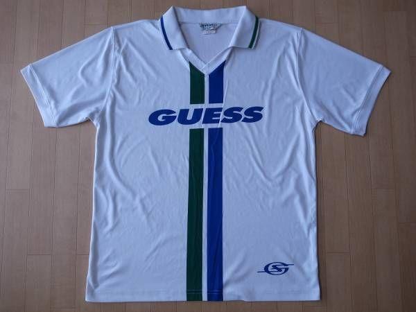 90's USA製 GUESS サッカー ユニフォーム M Tシャツ ゲス オールド【deg】
