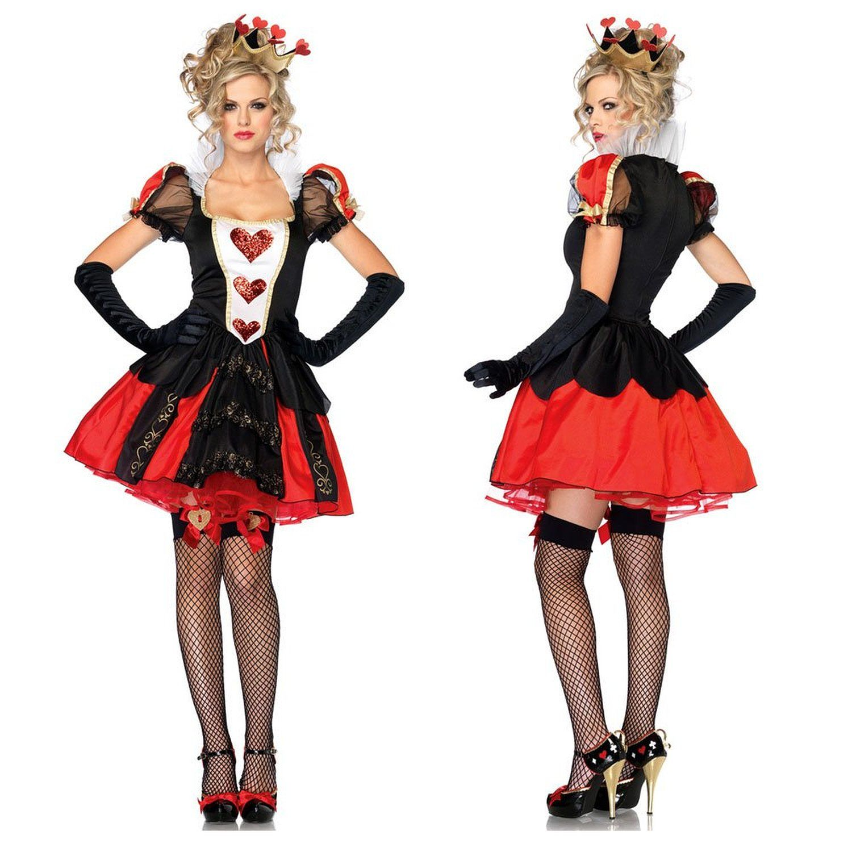 ハロウィーン コスプレ衣装 不思議の国のアリス Alice in Wonderland ハートの女王 コスチューム仮装 ディズニー 女王様 ハロウィン衣装 Dazzling Dark Queen