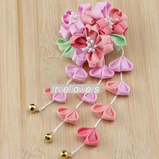 【ハンドメイドキット】つまみ細工の桜ヘアクリップ
