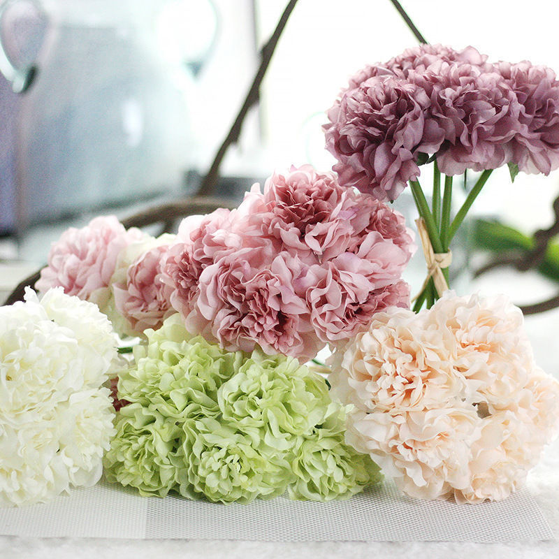 ぼたん?ピオニー?ひらひらで可愛い花びらです?アーティフィシャルフラワー 造花 ブライダル、インテリアにも