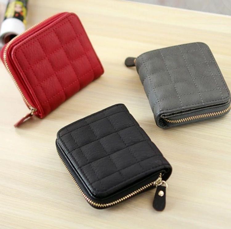 大人気? 可愛い 高級 チェック 折財布 ミニ財布
