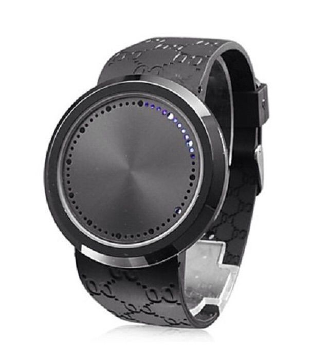人気タッチスクリーンLED腕時計
