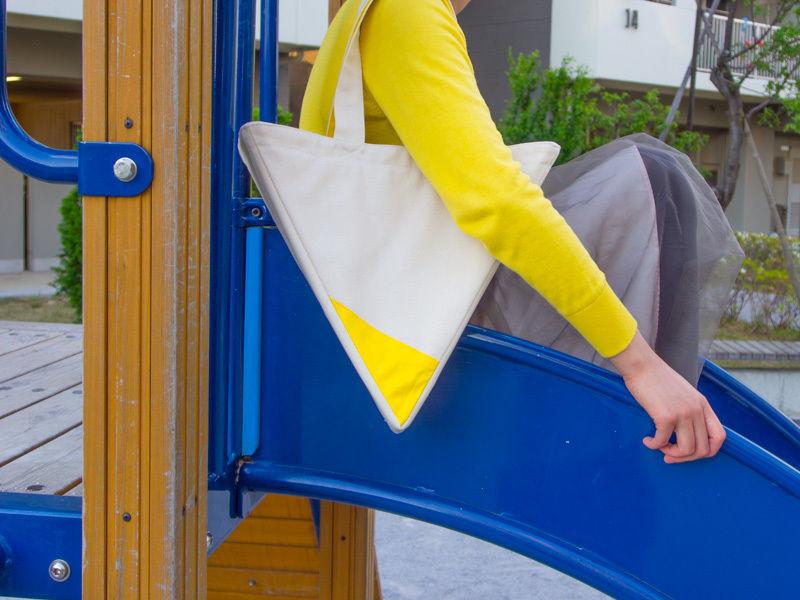 いびつトート type2 黄色