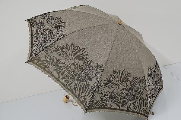 FA1563 SONIA RYKIEL ソニアリキエル 晴雨兼用折りたたみ日傘 USED美品 フラワー&ピコ UV 中古 ブランド