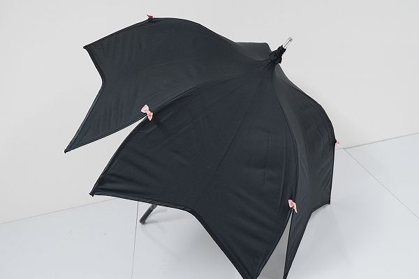 S0838 Di Cesare Designs ディチェザレ 日傘 USED美品 Sakura 花びら リボン 55cm 中古 ブランド