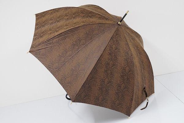 A0833 CDEC クードシャンス 傘 USED極美品 パイソン柄 大蛇 SEXY 60cm 中古 ブランド