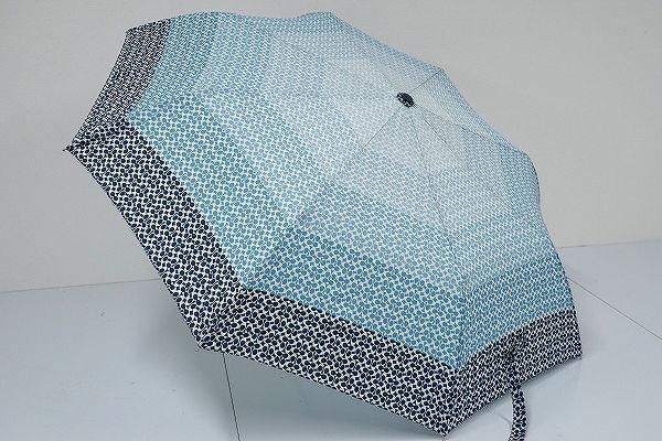 FS1730 COACH コーチ 折りたたみ傘 USED超美品 シグネチャー グラデーション ジャンプ式 53cm 中古 ブランド