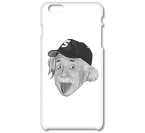 アルベルト・アインシュタイン・アウトドア モノクロ(iPhone6ケース)(iPhone5ケース)