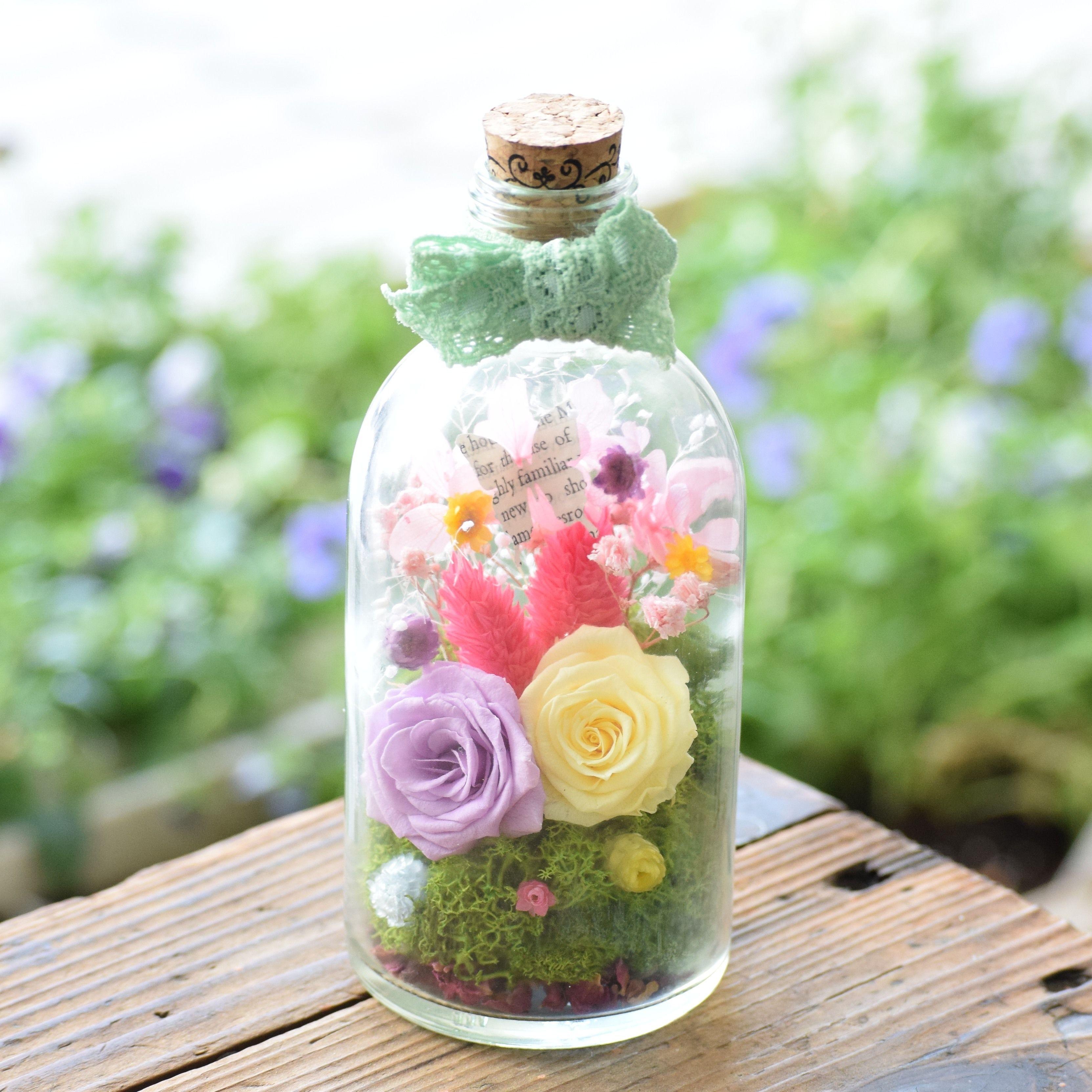 Bottle flower cocorohana Mademoiselle #002