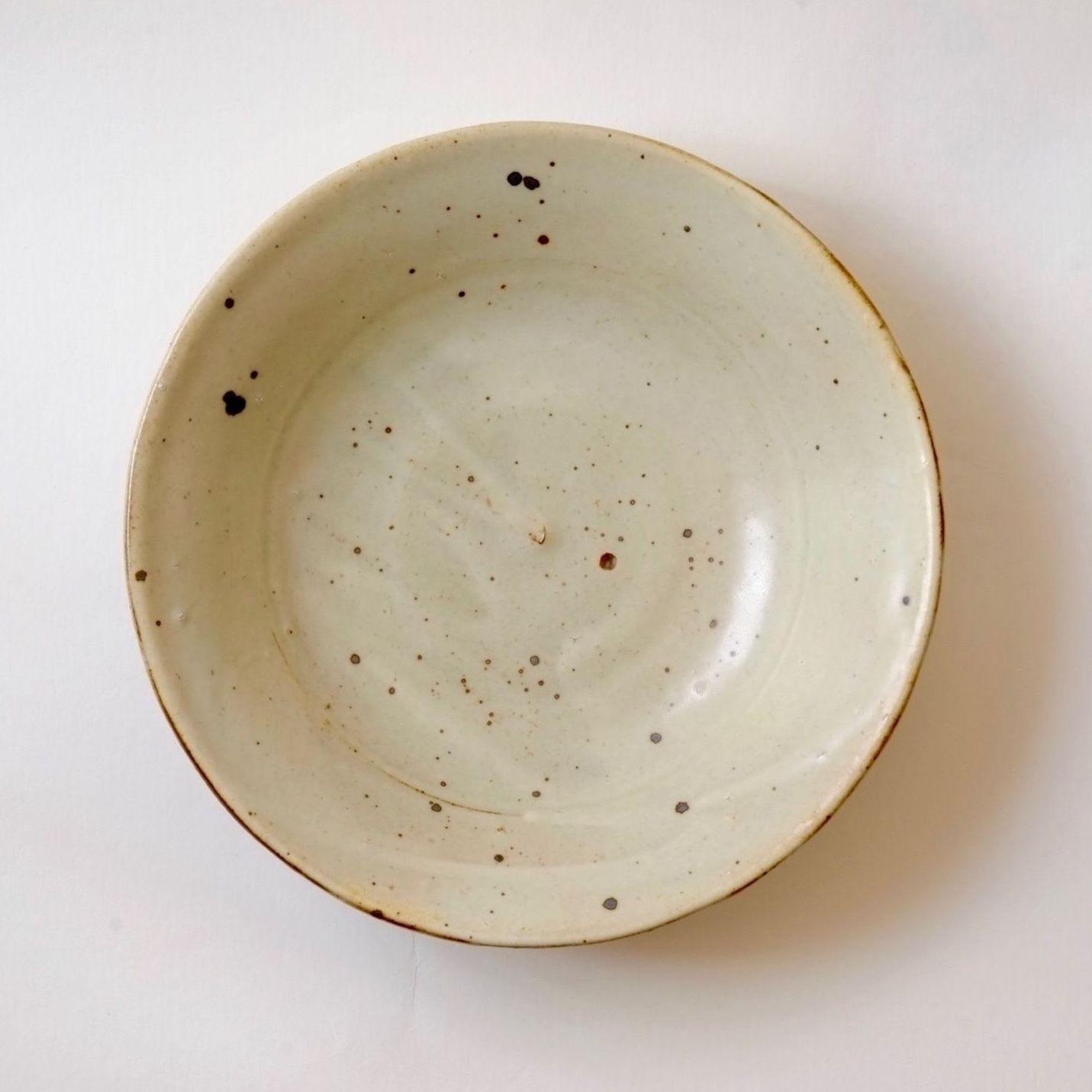 粉引マット調6寸皿