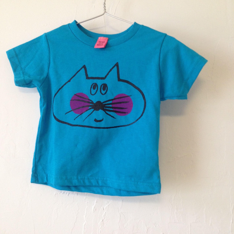 ▲送料無料 ??OUTLET?? 793番目のねこもぐらさん 80サイズ/半そで ねこもぐらさんTシャツR 5.5oz uyoga cat mole ターコイズ ほっぺあり
