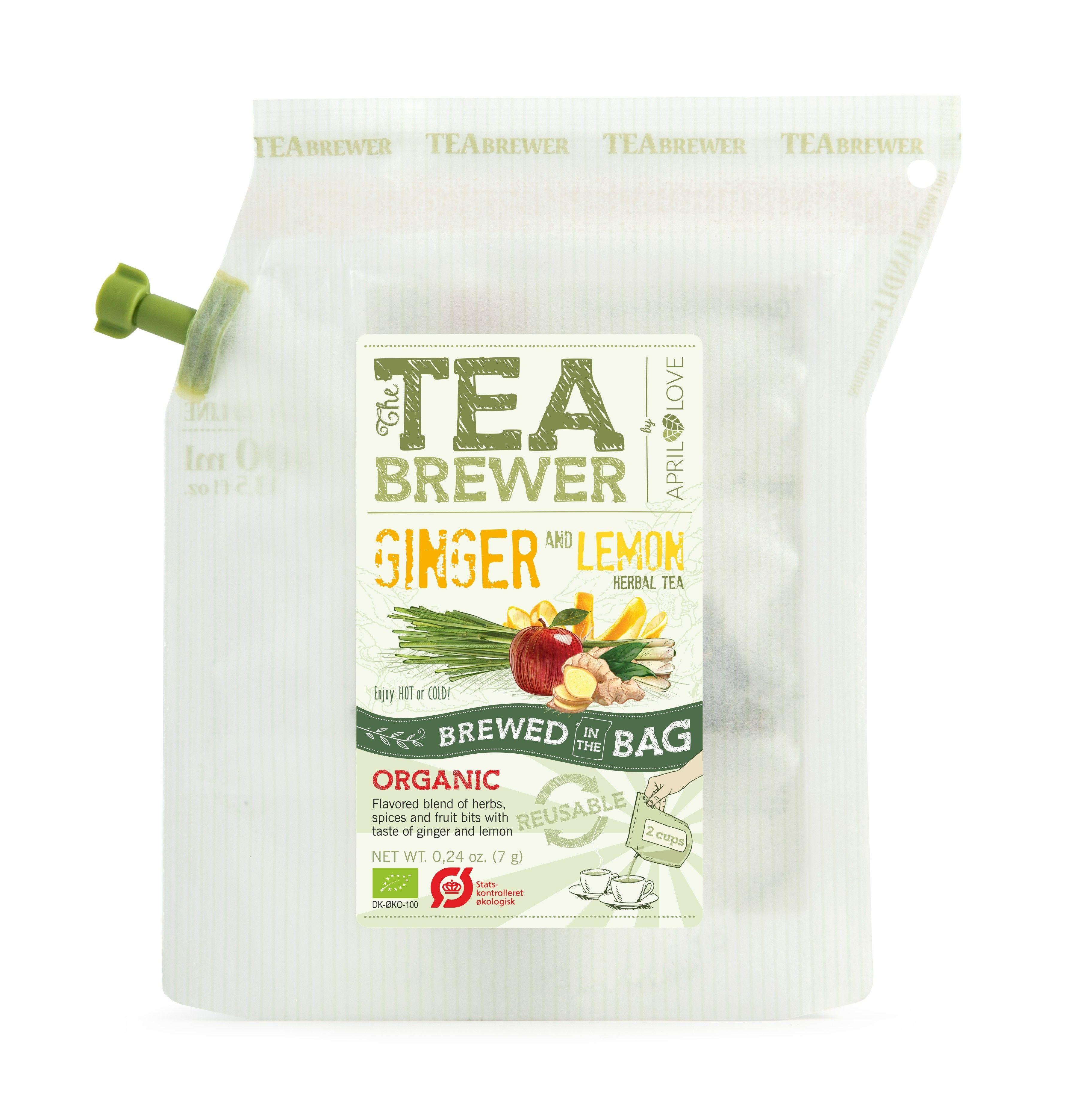 TEA BREWER   【Ginger and Lemon Herbal Tea】