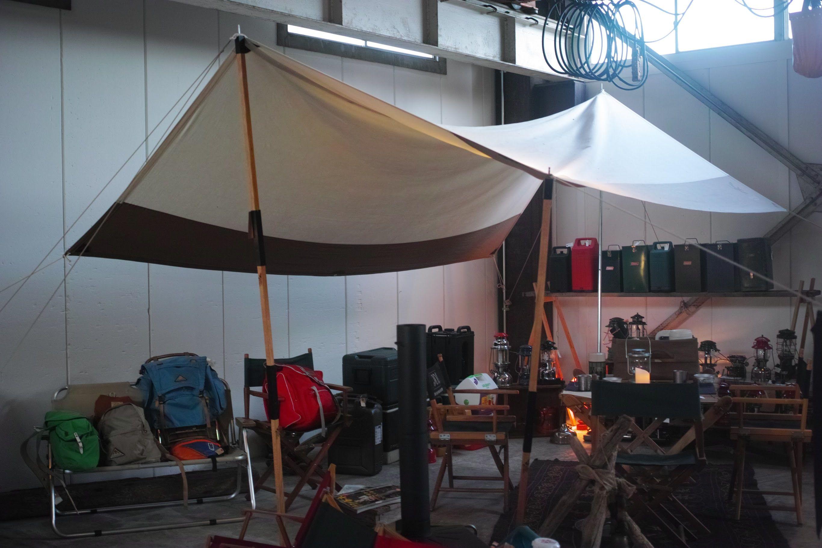 OUT SIDE IN Tabi Nobi Tentpole L