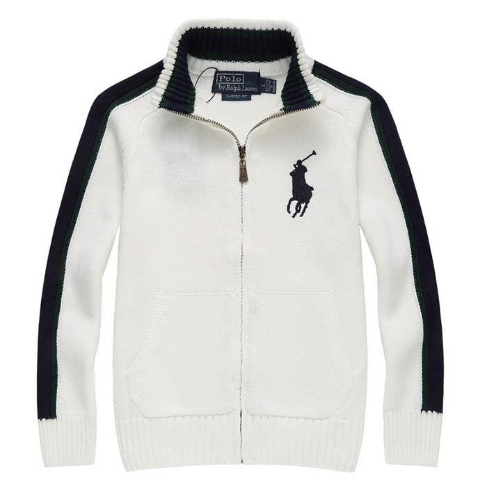 新入荷 人気 POLO RALPH LAUREN ポロ・ラルフローレン 子供 ニット セーター 子供用 高品質 キッズ用 人気 上質 ホワイト