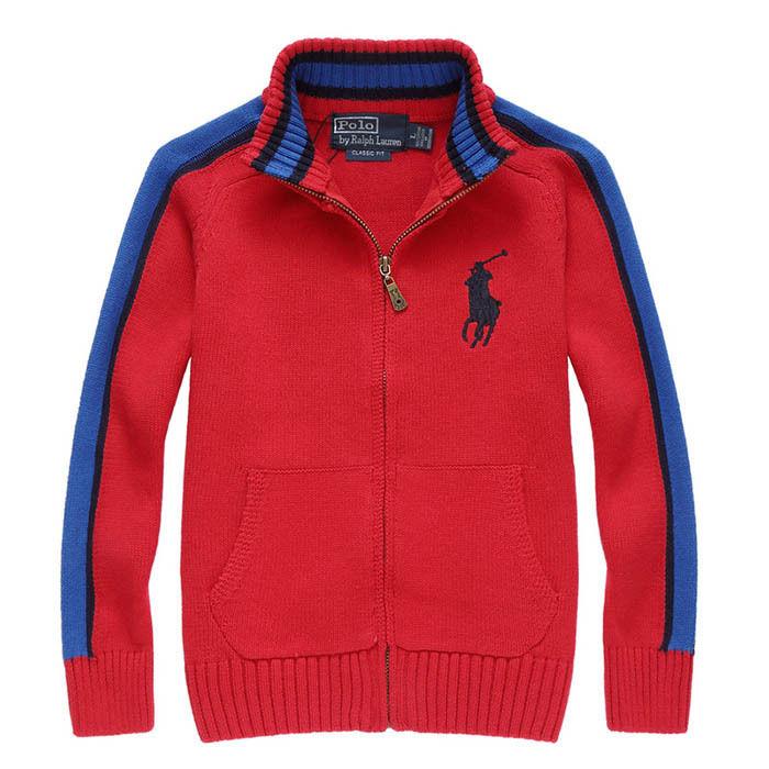 新入荷 人気 POLO RALPH LAUREN ポロ・ラルフローレン 子供 ニット セーター 子供用 高品質 キッズ用 人気 上質 赤