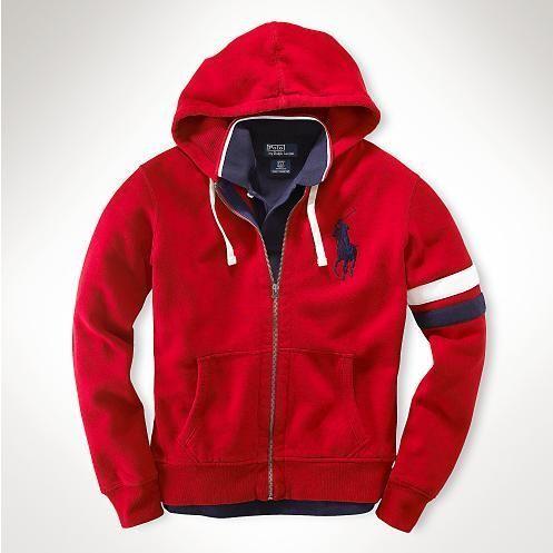 人気 新入荷 POLO RALPH LAUREN ポロ・ラルフローレン ジャケット  パーカー 人気 上質 商品 メンズ 用 男性用 赤