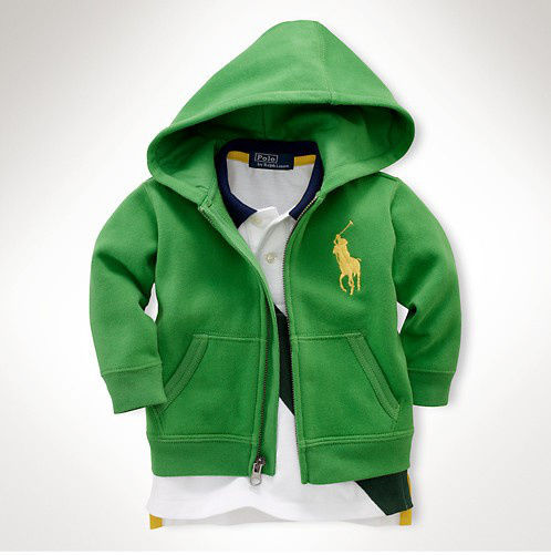 新入荷 人気 POLO RALPH LAUREN ポロ・ラルフローレン 子供 ジャケット パーカー 子供用 高品質 キッズ用 人気 上質 緑