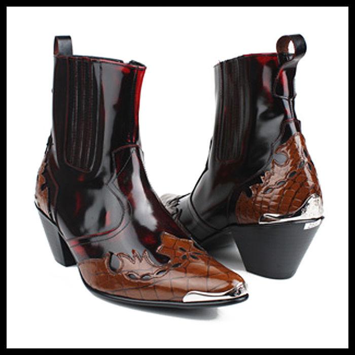 ハンドメイドサイドゴアブーツ★mshj0066 ハンドメイド ショートブーツ 本革 メンズ 靴 サイドゴアブーツ ウエスタン メンズ サイドゴアブーツ ウエスタンブーツ