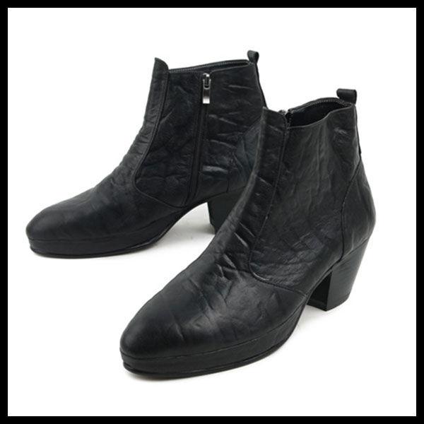 ハンドメイドアンクルブーツ★mshj0072 ハンドメイド メンズ靴 チャッカブーツ サイドゴアブーツ ブーツ メンズファッション アンクルブーツ