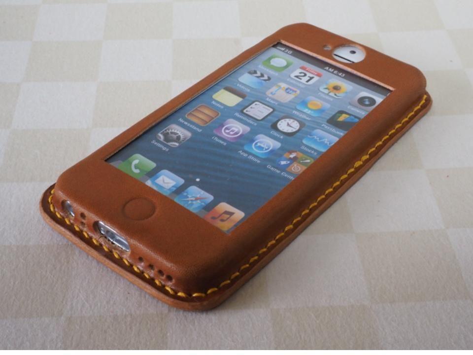iphone 5 フルレザーケース