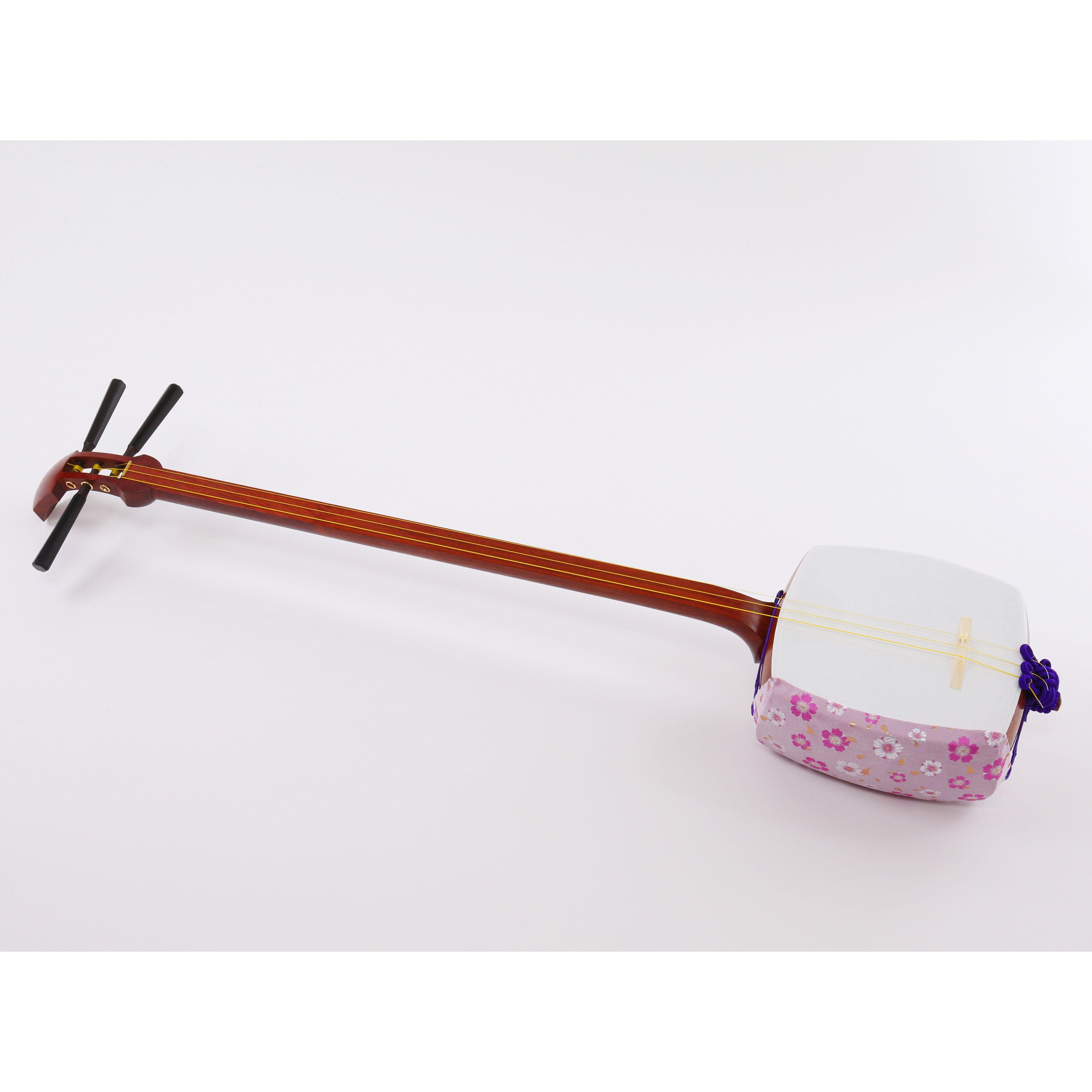 [29007]【長唄】花梨リプル張り付属品あり(胴掛け、小物の色、柄、仕様等おまかせ)
