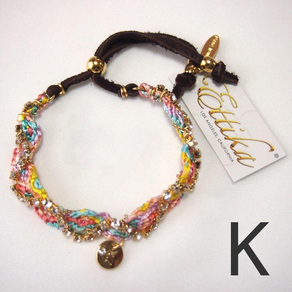 "【Ettika】Friendship Bracelet (#B668) ""K"""