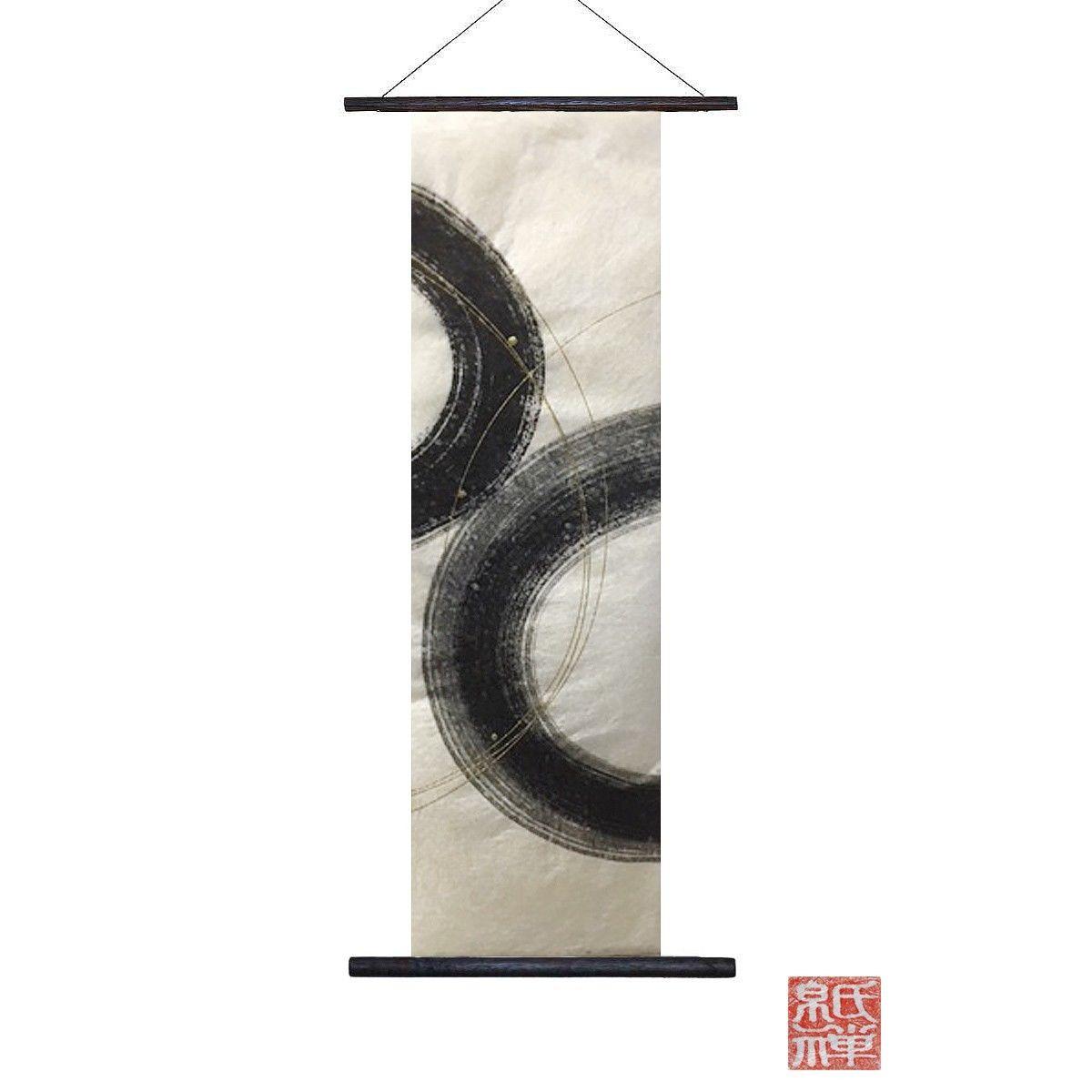 創作和紙インテリアタペストリー「紙禅」~Shi-Zen/和モダン墨デザイン30