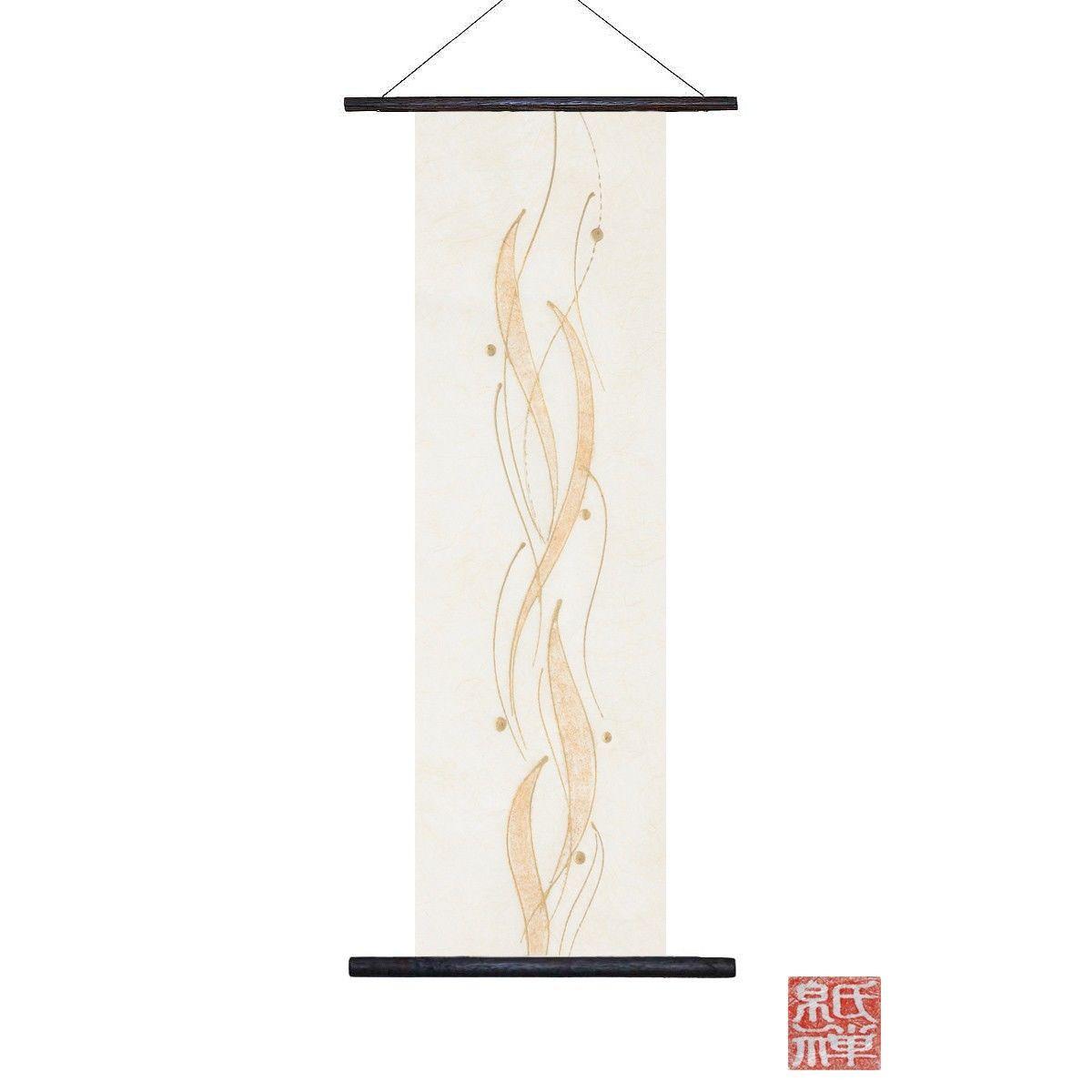 創作和紙インテリアタペストリー「紙禅」Shi-Zen和モダン樹脂デザイン40-18-1