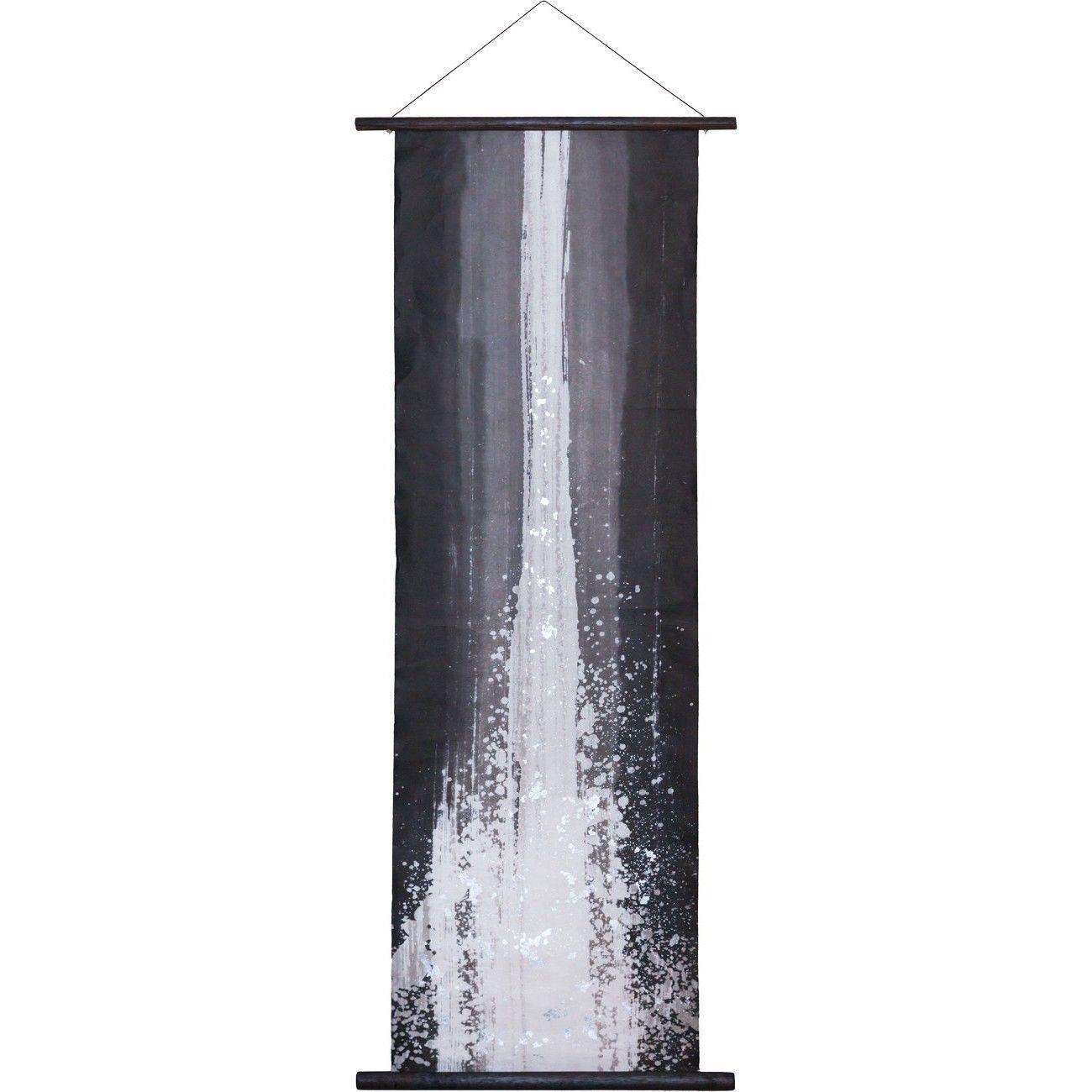創作和紙インテリアタペストリー「紙禅」~Shi-Zen和モダン滝~Waterfall /手描きデザイン