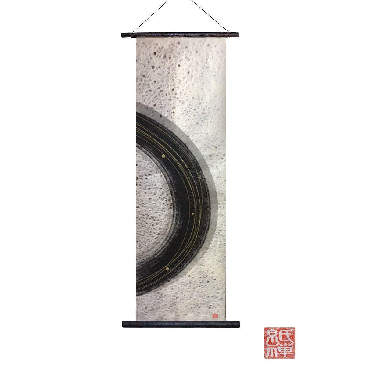 創作和紙インテリアタペストリー「紙禅」~Shi-Zen/和モダン墨デザイン05