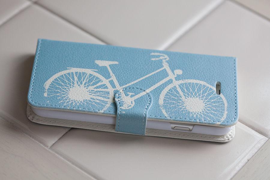 iPhone 6 手帳型ケース、自転車