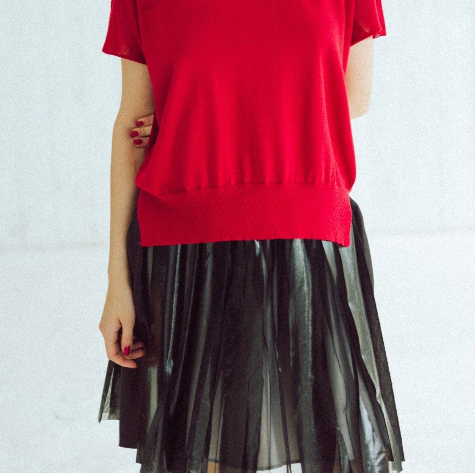 【Standard 】Rubber mini skirt (black)