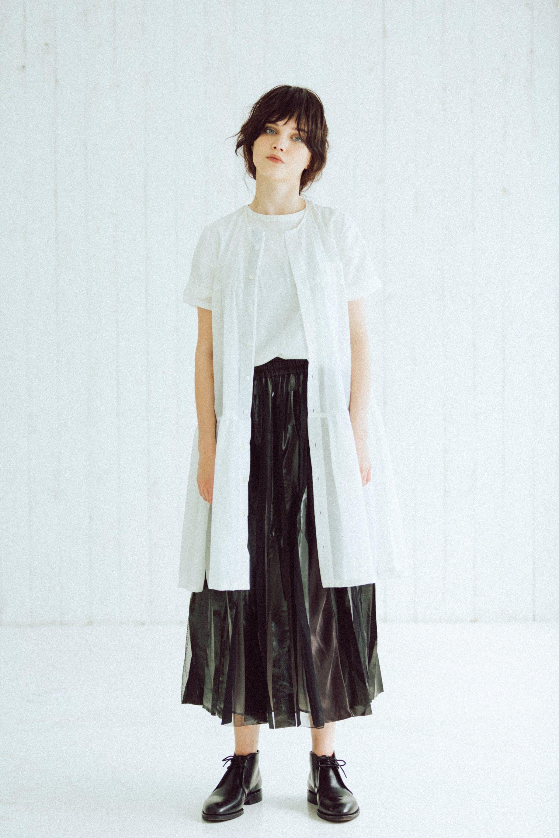 【Standard 】Rubber long skirt(black)
