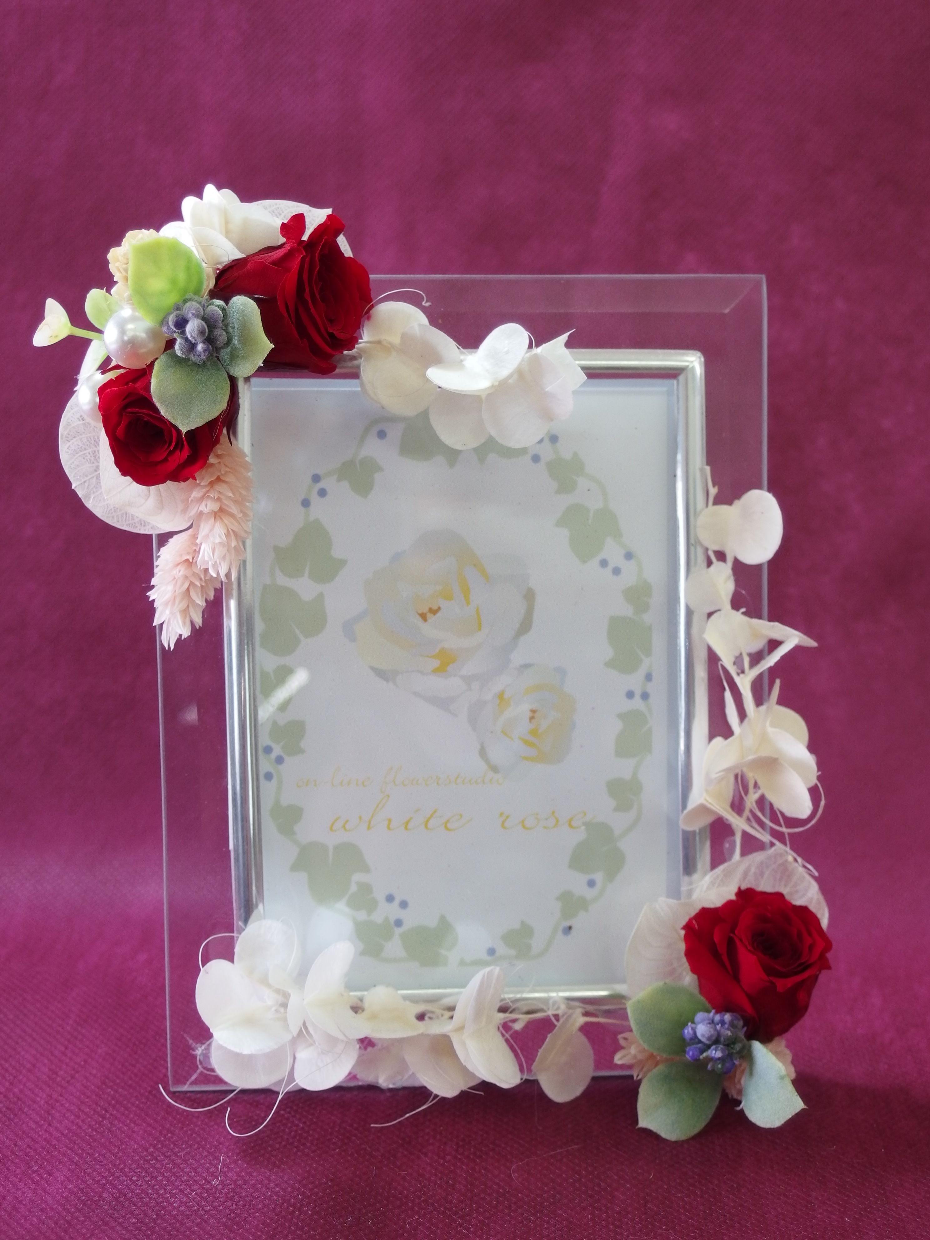 Photo Frame  rose    (フォト フレーム  ローズ)