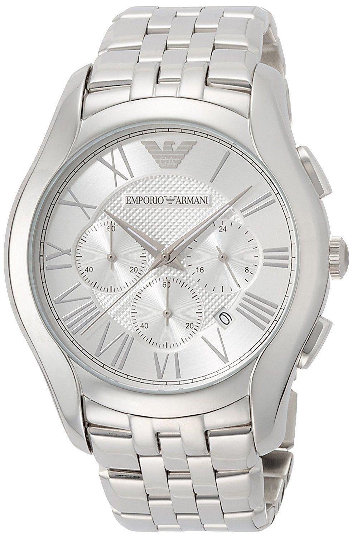 エンポリオアルマーニEMPORIO ARMANI エンポリオ・アルマーニ腕時計 クラシック クロノ AR1702 メンズ シルバー ブレスレット