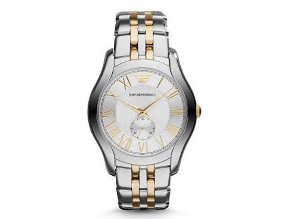 エンポリオ アルマーニ EMPORIO ARMANI 腕時計 AR1844 メンズ シルバー×ゴールド
