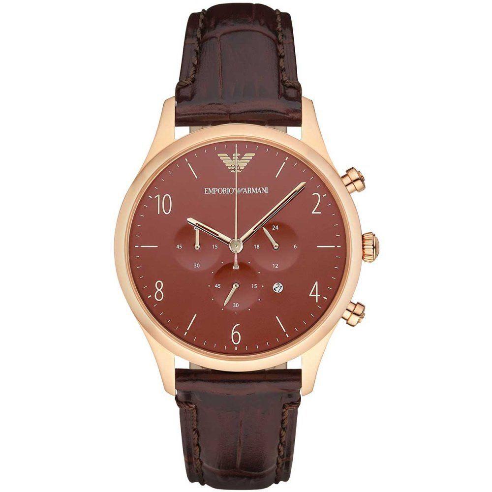 エンポリオアルマーニ腕時計/メンズ/AR1890/ブラウンダイアル/クラシック/クロノグラフ