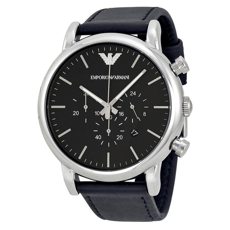 エンポリオアルマーニ EMPORIO ARMANI 腕時計 AR1828 LUIGI ルイージ クラシック クロノグラフ ブラック メンズ