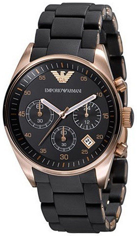 エンポリオ アルマーニEmporio Armani女性用ar5906 Fashion Black Dial Watch