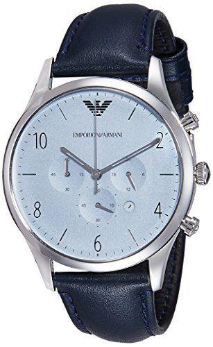 エンポリオアルマーニ EMPOLIO ARMANI 腕時計 AR1889 クォーツ クロノグラフ メンズ レザーベルト
