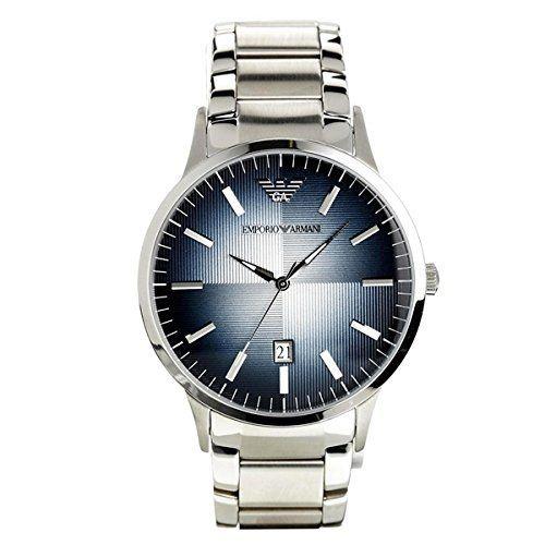 [エンポリオアルマーニ] EMPORIO ARMANI メンズ ネイビー 文字盤 シルバー ステンレス AR2472 腕時計 [並行輸入品]