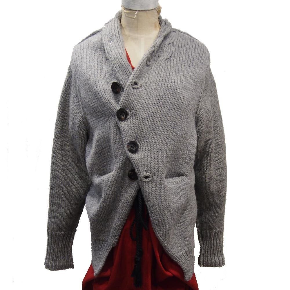 Ventriloquist ヴェントリロクィスト British knit jacket ブリティッシュニットジャケット グレー