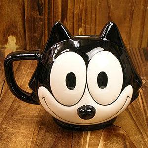 【FELIXフェイスマグ】カワイイ黒猫フィリックスの頭がマグカップに!