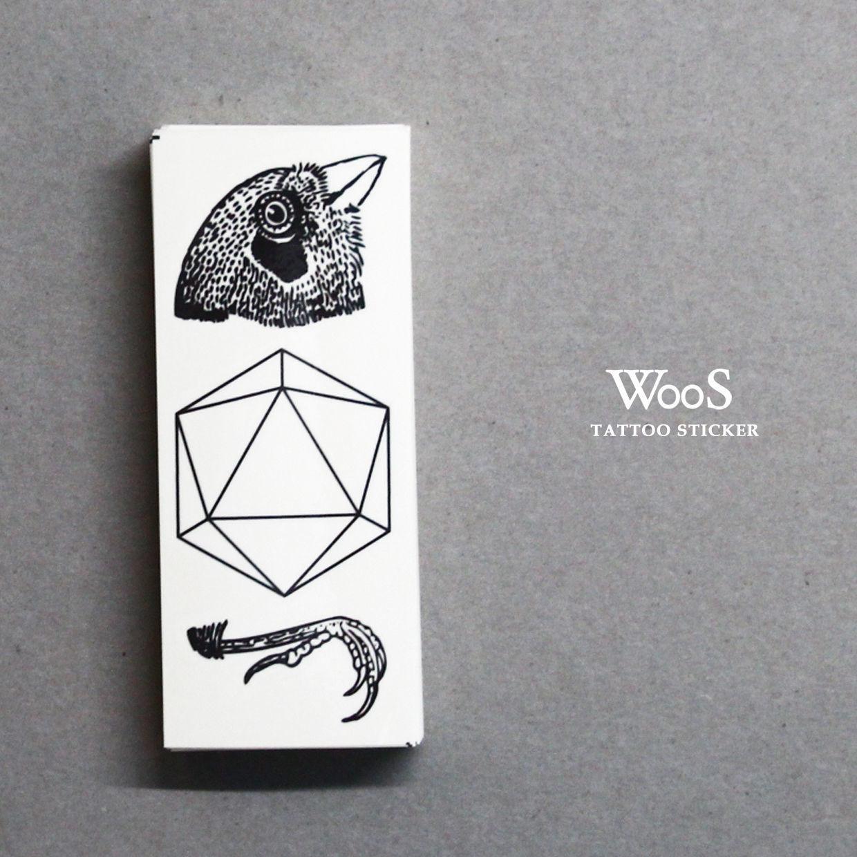 WooS tattoo sticker // 鳥
