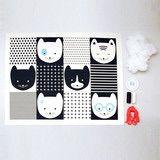 CATS GARLAND DIY KITS  [COLOR : Black]