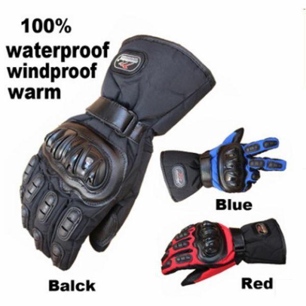 バイク グローブ 防寒 防水 プロテクター 付き