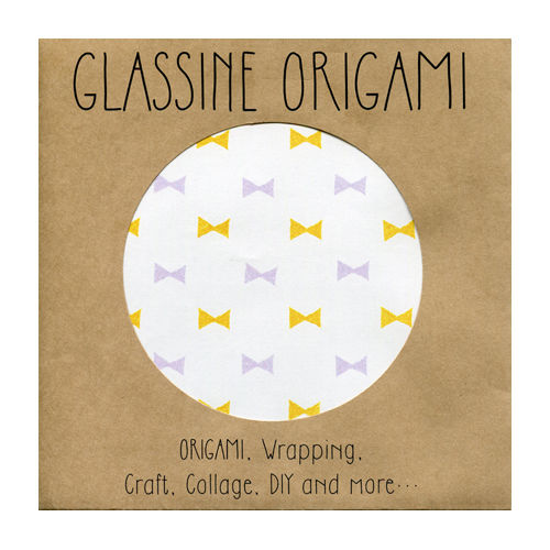 GLASSINE ORIGAMI bow